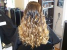 blond dimensional highlight ombre curls