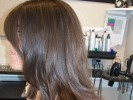 long layers layered hair dark brown