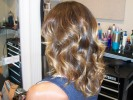 ombre bayalage brown blonde curls