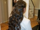 long hair updo pin curls