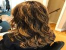 dimensional highlights lowlights blond blonde curls waves hair